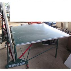 Kettler Sport Germany Green Folding Ping Pong Table