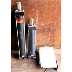 Qty 2 Apsco Hydraulic Rams Max PSI=130 & Box NAPA UP-583 Rear Brake Shoes