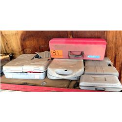 Qty 4 Cases w/ Power Drill, Wire Cutters, Ratchet & Sockets Sets, etc
