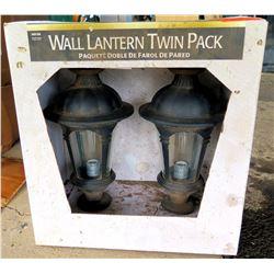 Wall Lantern Twin Pack Black Finish 848 018 Outdoor Lights