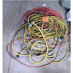 Multiple Misc Industrial 3 Prong Extension Cords