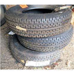 Qty 3 ST235/80R16 Trailer/Light Truck Tires 197621 762-400-406