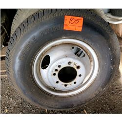 Sport Train ST225/90D16 Tire on Rim