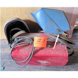 Lincoln Electric Weld Pak HD Gasless Welder w/ 2 Welding Helmets
