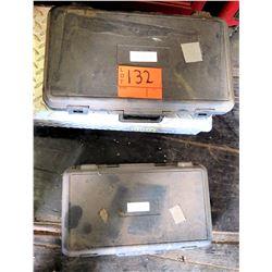 Qty 2 Hard Case Tool Sets - Rachet w/ Sockets Set & Crank Set