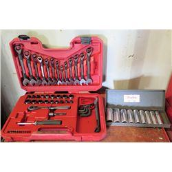 Craftsman Wrench, Screwdriver & Socket Set in Case & Dayton Sockets