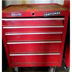 Craftsman Rolling 5 Drawer Ball Bearing Red Metal Tool Chest w/ Misc Tools