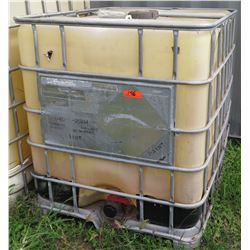 Plastic 265 Gallon Water Paint Transport Carrier in Metal Cage