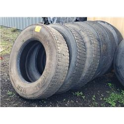 Qty 6 Continental 11R24.5 HSR 149/14 Radial Tires