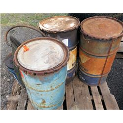 Qty 3 Drums 55 Gal Valvoline & 5 Gal Bucket w/ Pump