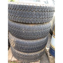 Qty 4 Goodyear LT245/75R17 Pro Grade Technology Tires on Rims