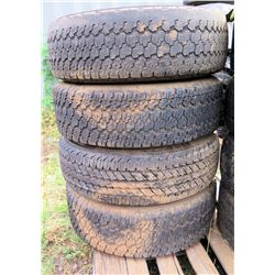 Qty 4 Goodyear LT245/75R17 Pro Grade Technology Tires on Rims