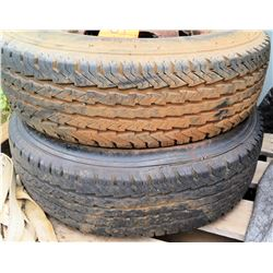 Qty 2 Goodyear LT235/85R16 Tubeless Radial Tires on Rims