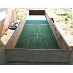 Wood & Felt Craps Dice Game Table