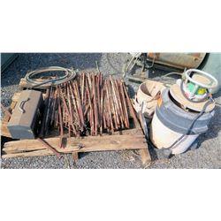 Greenlee Blower & Vacuum Unit 690 w/ Stack On Toolbox & Metal Stakes