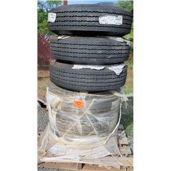 Qty 6 Goodyear G114 10.00R15TR Tires 135-576-003