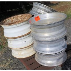 Qty 6+ Truck Tire Rims on Pallet