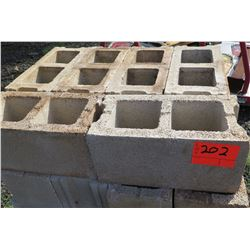 Pallet Hollow Tile Concrete Blocks, Approx. 150 Qty