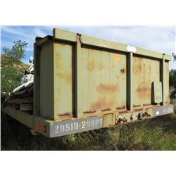 Military 2 Axle Transport Trailer 29SIB-29SPT w/ Misc Auto Parts, Fuel Tank, etc