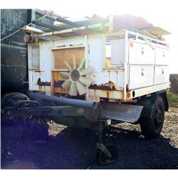 Military Chassis Trailer w/ Service Boxes, Under Bed Pipe Carrier