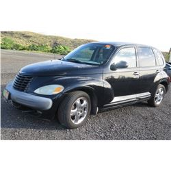 Black 2001 Chrysler PT Cruiser, 2.4 Liter Engine, DOHC 16V, 182525 Miles (Runs & Drives See Video)