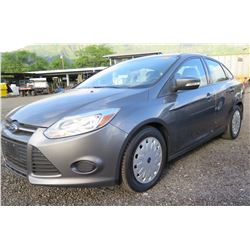 Gray 2013 Ford Focus 4 Door Sedan 6195 Miles (Runs & Drives See Video)