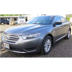 Gray 2014 Ford Taurus 4 Door Sedan, Flex Fuel, 18162 Miles (runs & Drives See Video)