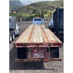 Freuhauf Wabash Double Axle 40' Flatbed Trailer 29023 w/ Wood Deck
