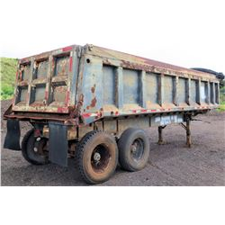 Double Axle Dump Demo Trailer w/ Tarp Roller