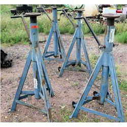 Qty 4 Interstate Lift Heavy Duty Jack Stands 18 Ton Capacity