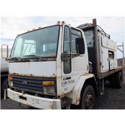 Ford Cab-Over Flatbed Truck w/ Service Truck Box (Runs, No Documents or Paperwork)