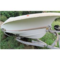 White Wellcraft Boat on E-Z Load Trailer (No Paperwork)