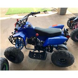 Zhejiang Industrial Co Kids' Blue Quad ATV, Missing Seat (Starts & Runs)