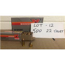 AMMO:  500 X .22 SHORT