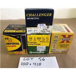 AMMO: 100 X 410 GA