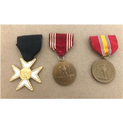 GR OF 3, MILITARY MEDALS