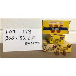 BULLETS: 200 X .32 LONG COLT