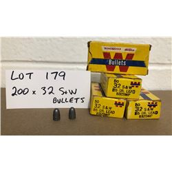 BULLETS: 200 X .32 SMITH & WESSON