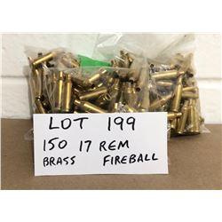 BRASS: 150 X .17 REM FIREBALL