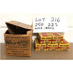 AMMO:  250 X .22 S - WHIZ BANG