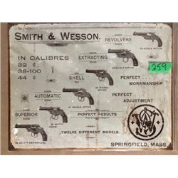 REPRO SMITH & WESSON TIN SIGN