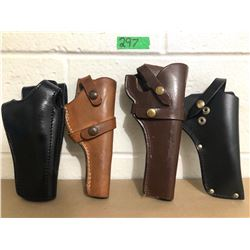 GR OF 4 LEATHER HOLSTERS