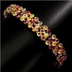Natural Stunning Fancy Sapphire 140.14 Ct Bracelet