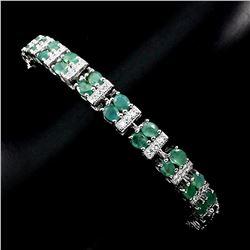 Natural 4x3mm Top Rich Green Emerald Bracelet