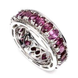 Natural Pink Raspberry Rhodolite Garnet Ring