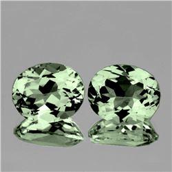 Natural Green Amethyst Pair 11x9 MM - FL