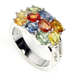 Natural Fancy Sapphire Ring