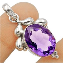 GORGEOUS 8 CT NATURAL AMETHYST PENDANT