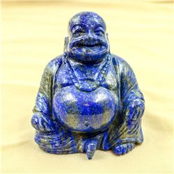HUGE 3060 CT HAND CARVED BLUE LAPIS LAZULI BUDDHA