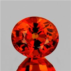 NATURAL ORANGE SPESSARTINE GARNET 9x6 MM - FL